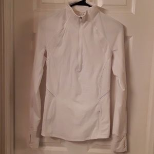 White lululemon pull over jacket